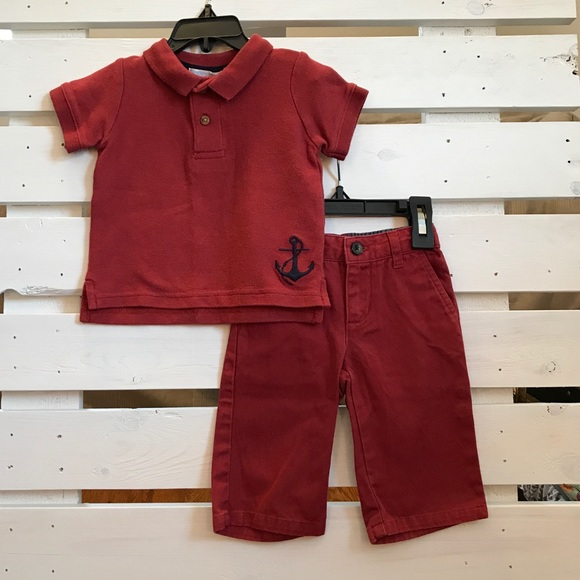 b8cd9ef03 Janie and Jack Matching Sets | Baby Boy Polo Anchor Outfit S 36m ...